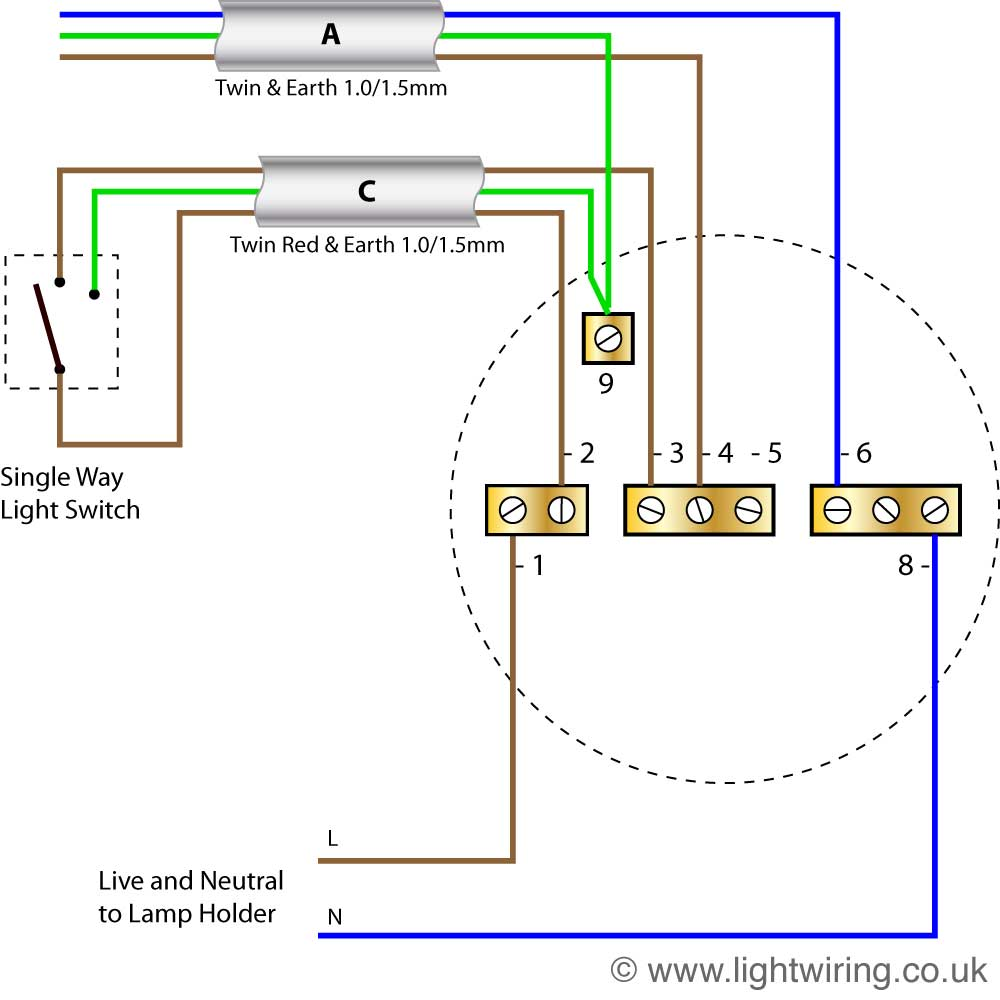 Radial circuit light wiring diagram | Light wiring