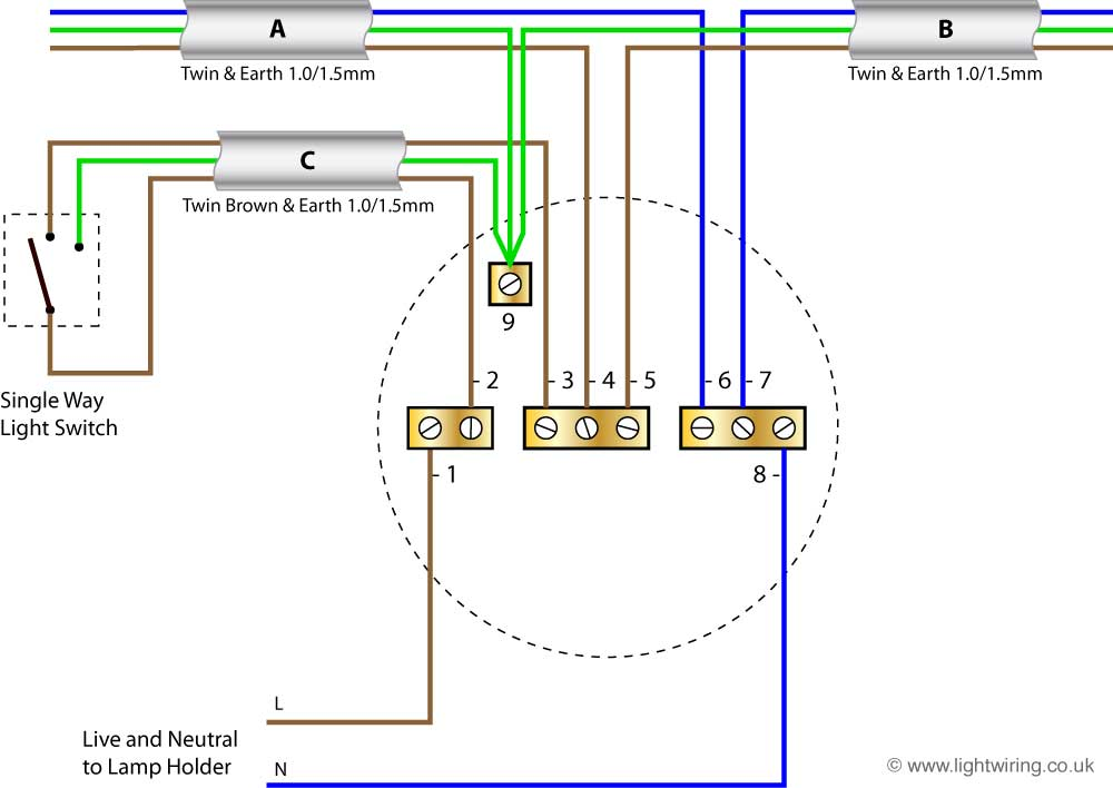Lighting wiring diagram light