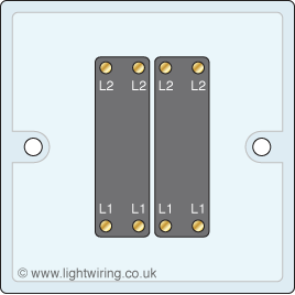 Wiring Diagram For Double Light Switch together with Wiring A Double Pole Switch Diagram in addition Wiring Diagram Intermediate Switch as well Wiring 2 Receptacles In One Box in addition 4 Gang Light Switch Wiring. on two gang switch wiring diagram