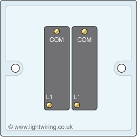 Light Switch on wiring double gang switch connections