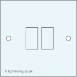 Double gang switch face plate