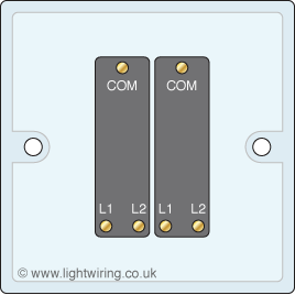 2 gang 2 way light switch Light wiring