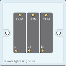 Triple Gang 1 Way Light Swith on three way switches wiring diagram