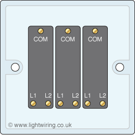 3 gang 2 way light switch light wiring rh lightwiring co uk Double Light Switch Wiring Diagram Installing a Light Switch Wiring Diagram
