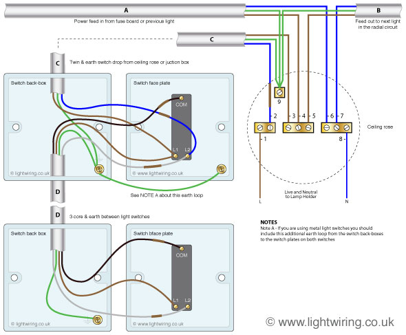 2 way lighting circuit light wiring rh lightwiring co uk Light Switch Wiring 2 Pole Light Switch Wiring For Dummies
